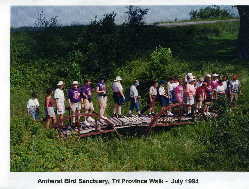 Amherst bird sanctuary, Tri Province Walk. July 1984. Photo submitted by Sue Banks.